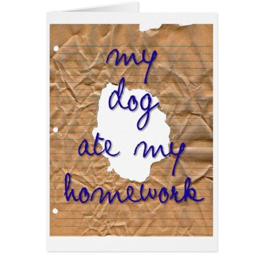 My dog ate my homework cards