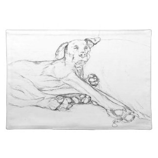 "My Dog Bell ""All Legs"", A Sketch Placemat"