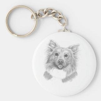 My dog by Disa Pabon Keychain