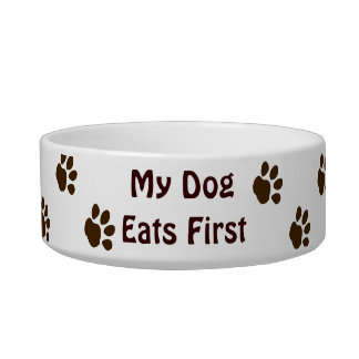 My Dog Eats First Cat Water Bowl