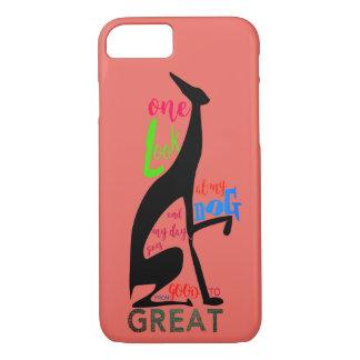 My Dog Greyhound Black Silhouette Elegant Art Deco iPhone 8/7 Case