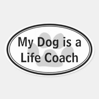 My Dog is a Life Coach Sticker