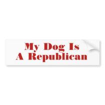 My Dog Is A Republican Bumper Sticker Template