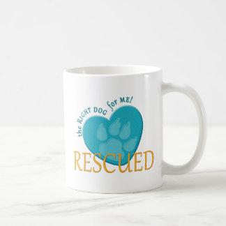 My Dog Is A Rescued Dog Heart Paw Print Coffee Mug