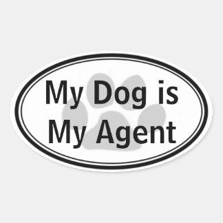 My Dog is My Agent Sticker