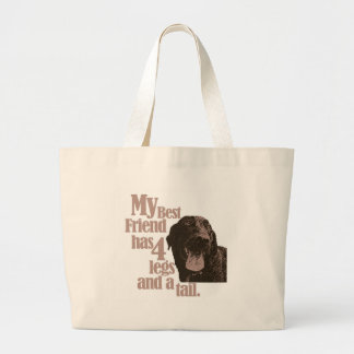 My Dog is my Best Friend Large Tote Bag