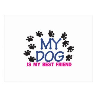 My Dog Is My Best Friend Postcard