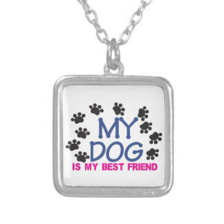 My Dog Is My Best Friend Square Pendant Necklace