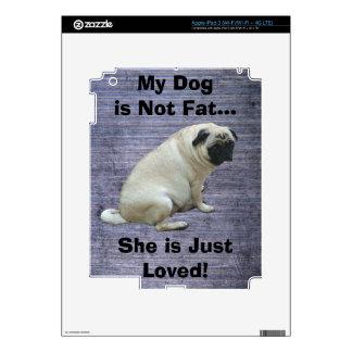 My Dog is Not Fat Pug iPad 3 Skins