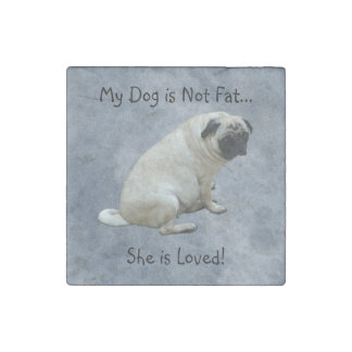 My Dog is Not Fat Pug Stone Magnet