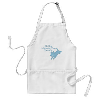 My Dog is Smarter than Your Cat Adult Apron