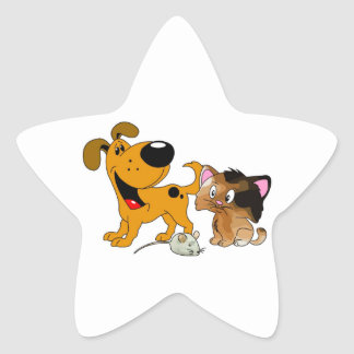 My Dog is TOO Friendly Star Sticker