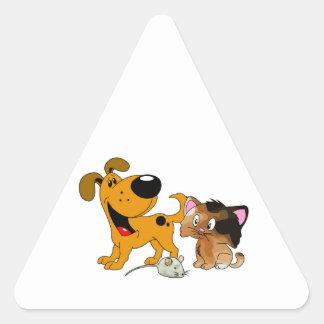 My Dog is TOO Friendly Triangle Sticker
