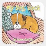 My Dog Jack Sticker by Laura Ceville