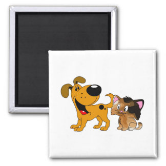 My Dog Loves Cats! Magnet
