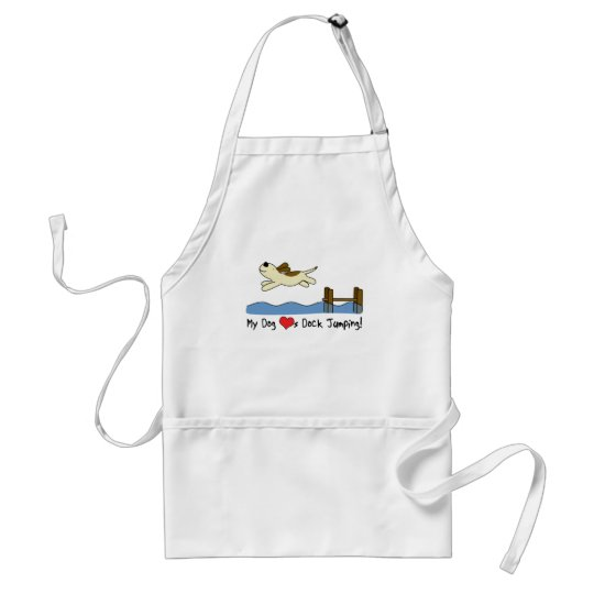 My Dog Loves Dock Jumping Adult Apron