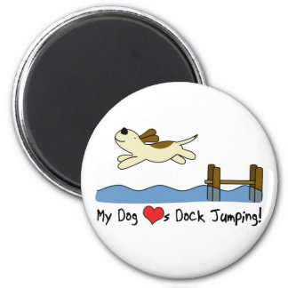 My Dog Loves Dock Jumping Magnet