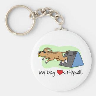 My Dog Loves Flyball Keychain