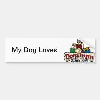 My Dog Loves My Dog's Gym bumper sticker Car Bumper Sticker