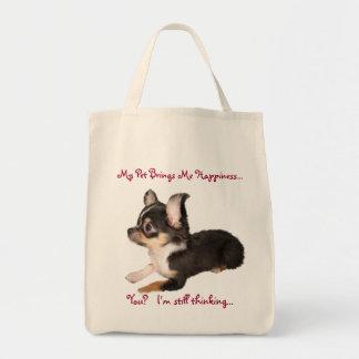 My Dog Makes Me Happy Bag