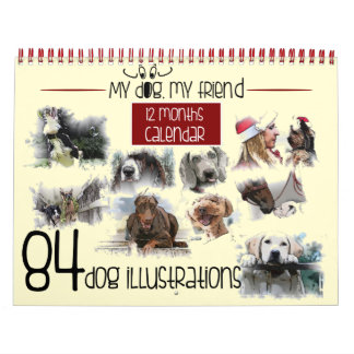My dog, my friend 84 illustrations calendar