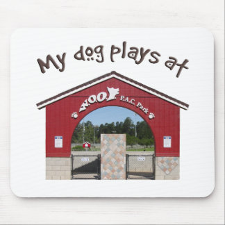 My dog plays at Woof Pac Park Mouse Pad