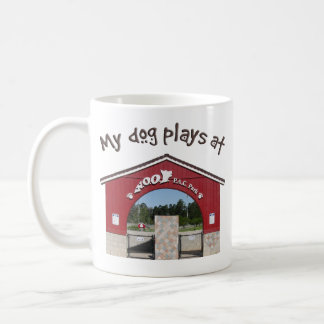 My dog plays at Woof Pac Park Classic White Coffee Mug