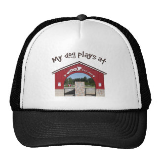 My dog plays at Woof Pac Park Trucker Hat