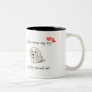 My dog rescued me mug