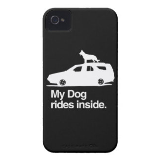 My dog rides inside -.png blackberry cases