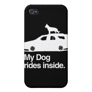My dog rides inside -.png iPhone 4 cases