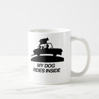 My dog rides inside png mugs
