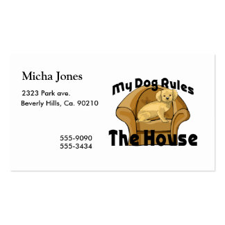 My Dog Rules The House Double-Sided Standard Business Cards (Pack Of 100)