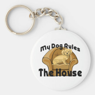 My Dog Rules The House Keychains