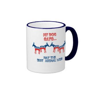 My Dog Says...Democrat Ringer Mug