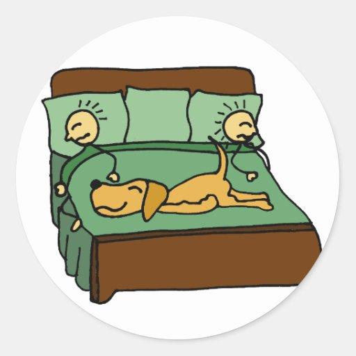 My Dog the Bed Hog Cartoon Sticker