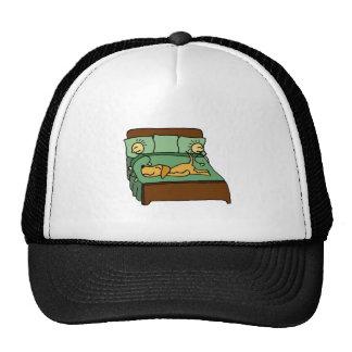 My Dog the Bed Hog Cartoon Trucker Hat