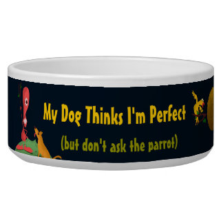 My Dog Thinks I'm Perfect Bowl