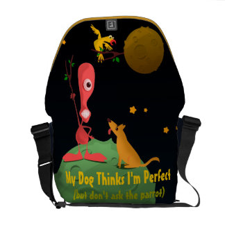 My Dog Thinks I'm Perfect Courier Bag