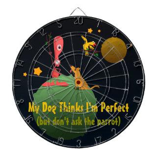 My Dog Thinks I'm Perfect Dartboard With Darts