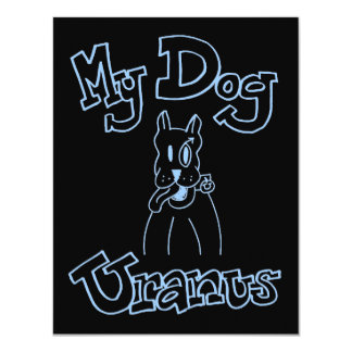 My Dog Uranus Invitation