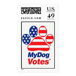 My Dog Votes In The USA Stamp