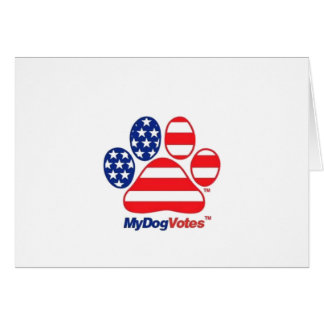 My Dog Votes USA Notecards Greeting Card