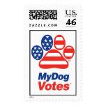 My Dog Votes USA Stamp