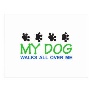 My Dog Walks Postcard