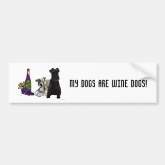 My Dogs Are Wine Dogs - Bumper Sticker Car Bumper Sticker