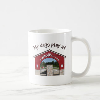 My dogs play at Woof Pac Park Classic White Coffee Mug