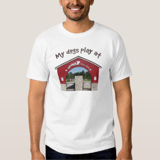 My dogs play at Woof Pac Park Tshirt