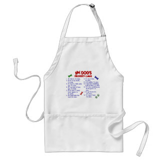 MY DOG'S Property Laws 2 Adult Apron