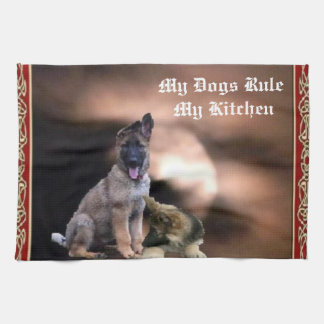My Dogs Rule My Kitchen Kitchen Towels